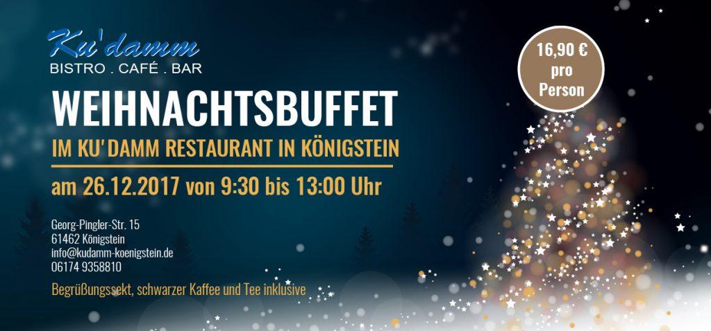 Weihnachtsbuffet im Kudamm